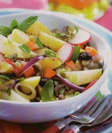 Insalata di patate e olive