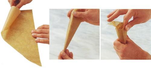 Decorare le torte con il cono di carta