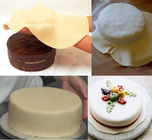 Decorare le torte con la pasta di mandorle (Marzapane)