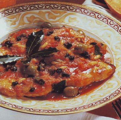 Pesce spada al pomodoro e olive
