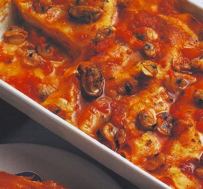 Lasagne al sugo di cozze e vongole