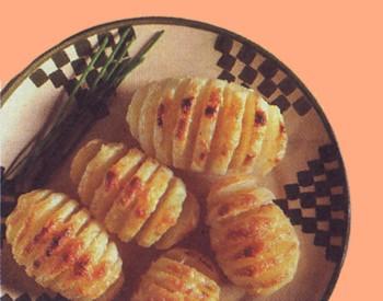 Ventagli di patate  al forno con il grana