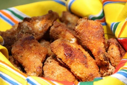 Pollo impanato e fritto
