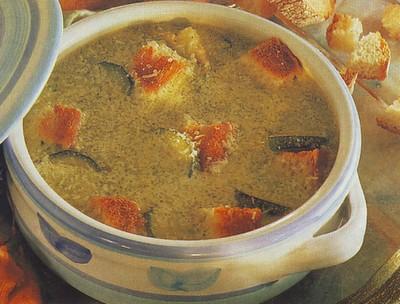 Zuppa di pane e zucchine