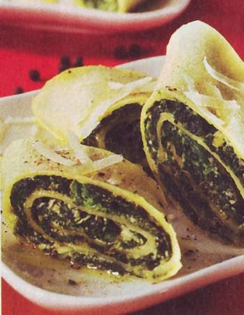 Rotolo agli spinaci e ricotta