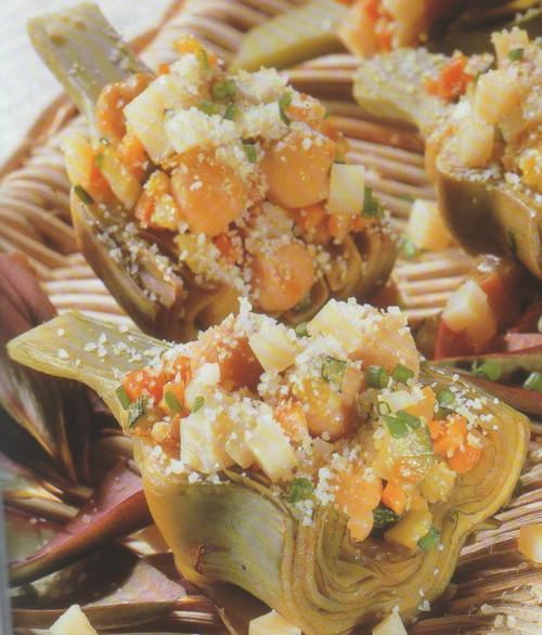 Carciofi ripieni alle verdure