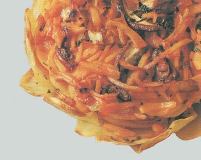 Torta di patate zucca e funghi